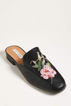 Forever 21 Floral Embroidered Loafer Mules
