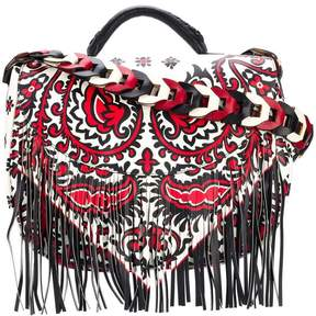 RED Valentino fringed printed shoulder bag
