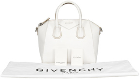 Givenchy White Antigona Leather Satchel