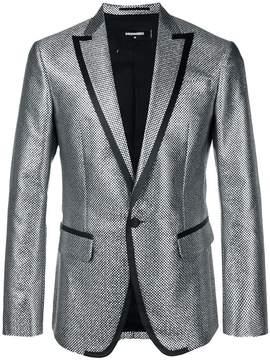 DSQUARED2 woven-effect tuxedo jacket
