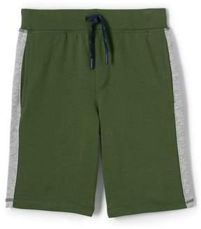 Lands' End Lands'end Boys Husky Side Stripe Sweat Shorts