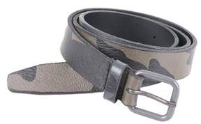 Orciani Men's Green Leather Belt.