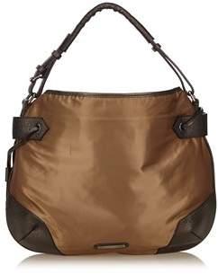 Burberry Pre-owned: Nylon Handbag. - BROWN X GRAY - STYLE