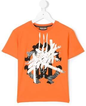Roberto Cavalli front print T-shirt