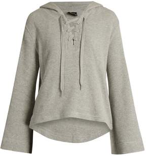 The Upside Oxford hooded cotton top