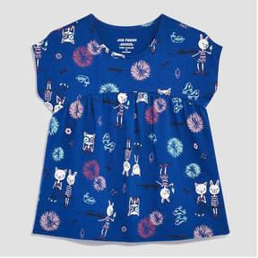 Joe Fresh Toddler Girls' Print Gathered Top