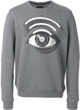 Frankie Morello printed eye oversized sweater