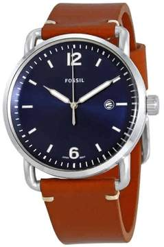 Fossil Commuter Blue Dial Men's Leather Watch FS5325
