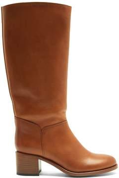 A.P.C. Iris block-heel leather knee-high boots