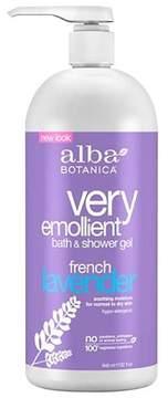 Alba Very Emollient French Lavender Bath & Shower Gel 32oz