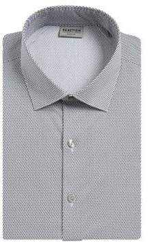 Kenneth Cole Reaction Slim Fit Printed Cotton-Blend Dress Shirt