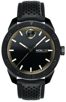 Movado Men's Bold Metals Sport Leather Strap Watch, 43Mm