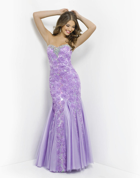 Blush Lingerie Embroided Floral Strapless Mermaid Gown 9582