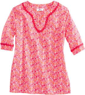Vineyard Vines Girls Shell Print Tunic Top