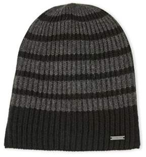 Michael Kors Unisex Striped Beanie, Grey/Black