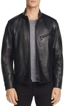 Andrew Marc Gibson Leather Moto Jacket