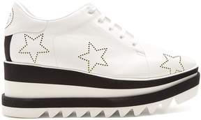 Stella McCartney Sneak-Elyse lace-up perforated-star platform shoes