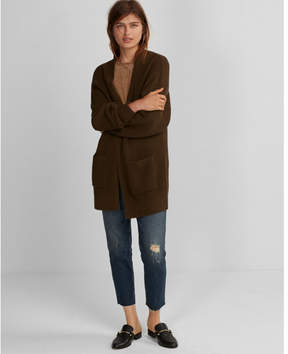 Express shaker knit wedge cover-up