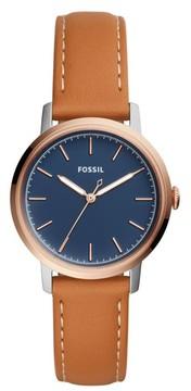 Fossil Women's Neely Leather Strap Watch, 34Mm