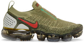 Nike Green and Red VaporMax FK MOC 2 Sneakers