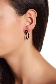 Ariella Collection Geometric Front/Back Earrings