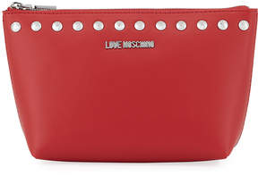 Love Moschino Bustina Stidded Faux-Leather Zip Wallet