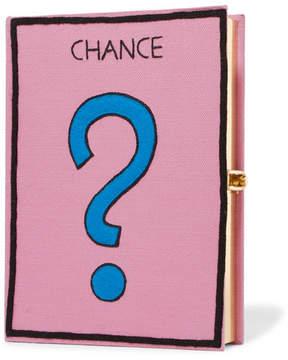 Olympia Le-Tan Hasbro Appliquéd Cotton-blend Clutch - Pink