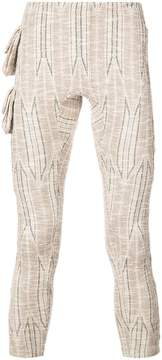 Cottweiler printed leggings with side pockets