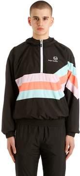 Sergio Tacchini 90's Hooded Half-Zip Windbreaker Jacket