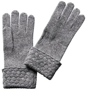 Sofia Cashmere sofiacashmere Sofiacashmere Cuffed Touchscreen Gloves.