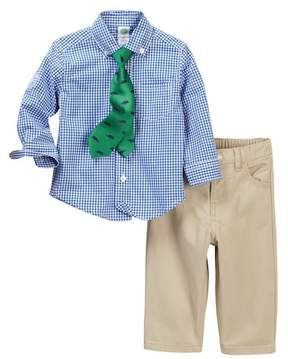 Little Me Blue Check Woven Pant Set (Baby Boys)
