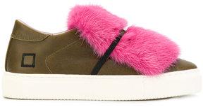 D.A.T.E slip-on fur sneakers