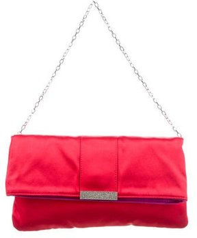 Dolce & Gabbana Miss Fold Satin Evening Bag - RED - STYLE