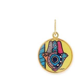 Alex and Ani Hamsa Art Infusion Necklace Charm | Romero Britto