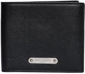Logo Plaque Leather Classic Wallet