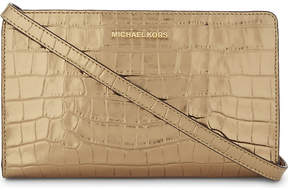 MICHAEL Michael Kors Jet Set Travel embossed leather cross-body bag - GOLD - STYLE