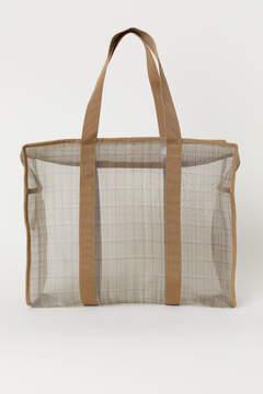 H&M Checked Mesh Bag - Beige
