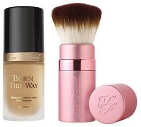 Too Faced Born This Way Foundation & Kabuki Brush - Light Beige