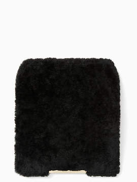 Kate Spade Make it mine shearling flap - BLACK - STYLE