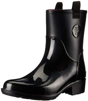 Tommy Hilfiger Womens khristie Rubber Almond Toe Mid-Calf Cold Weather Boots