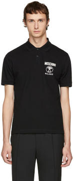 Moschino Black Logo Polo