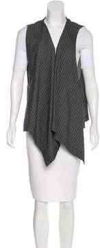eskandar Draped Wool Vest