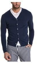 H953 Men's Hs213474 Blue Cotton Cardigan.