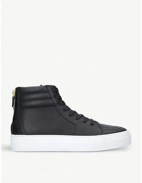 Kurt Geiger London 140mm Zip leather high-top trainers