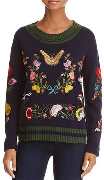 Aqua Embroidered Sweater - 100% Exclusive