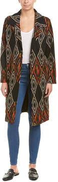 Anama Printed Woven Long Jacket