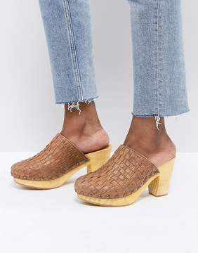 Free People Adelaide Woven Leather Clogs