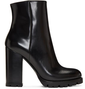 Prada Black Lug Sole Boots
