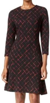 Tommy Hilfiger Womens Printed Long Sleeves Casual Dress