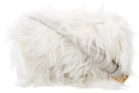 Saint Laurent Lulu Alpaca Crossbody Bag - WHITE - STYLE